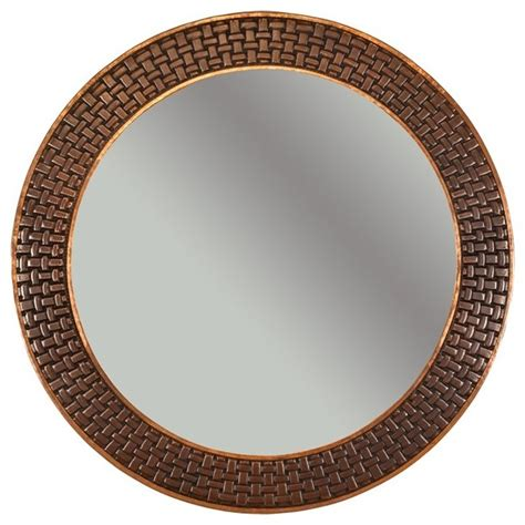Copper Bathroom Mirrors Premier Copper 34 Hammered Copper Mirror With Decorative Braid Desig Traditional