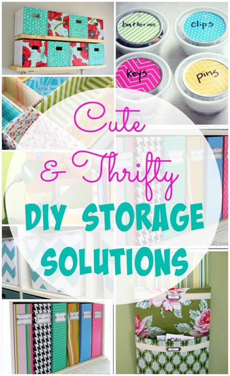 diy solutions 26 cute and thrifty diy storage solutions the happy