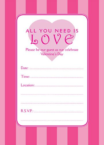 10 Best Images Of Valentine Printable Invitation Templates Valentine Party Invitation S Day Invitation Template