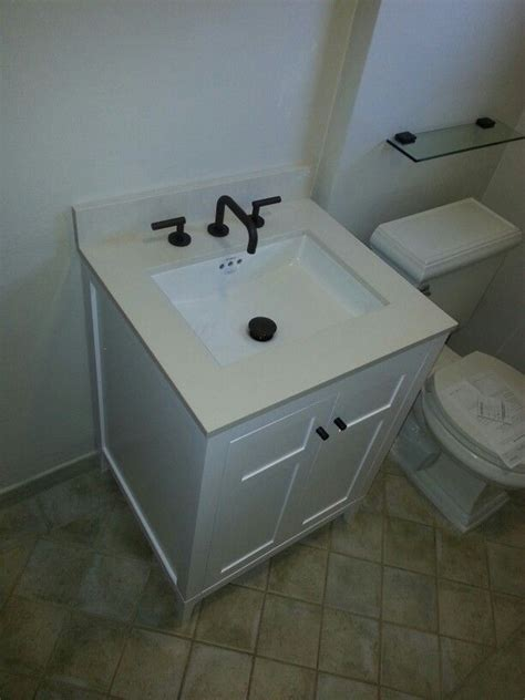 In Plumbing For Pedestal Sink by Removed Pedestal Style Sink And Installed Vanity