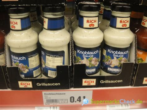 Rich Delicious by Rich Delicious Sauce Knoblauch Sauce Infos Angebote Preise
