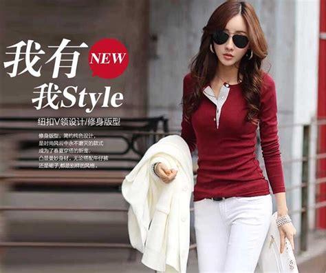 Kaos Lengan Panjang Impor Korea kaos wanita korea lengan panjang 2015 model terbaru