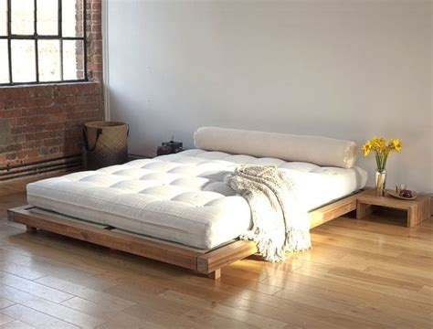 wooden futon beds best 25 low platform bed ideas on low beds