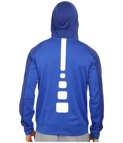 Zipper Hoodie Nike Hitam lyst nike elite stripe zip performance fleece hoodie in blue for