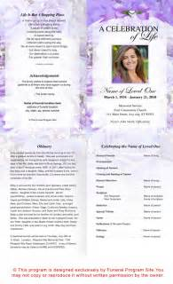 Funeral Program Templates Publisher by Best Photos Of Template Of Funeral Program Free Sle