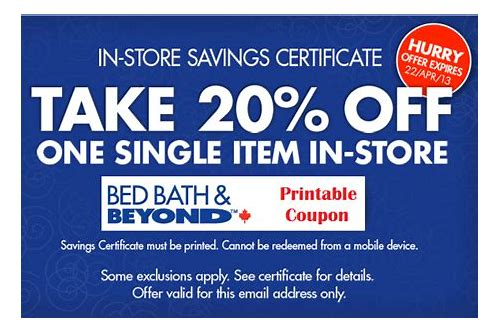 bed bath and beyond online coupon canada