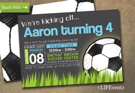 soccer invitation card templates soccer invitations theruntime