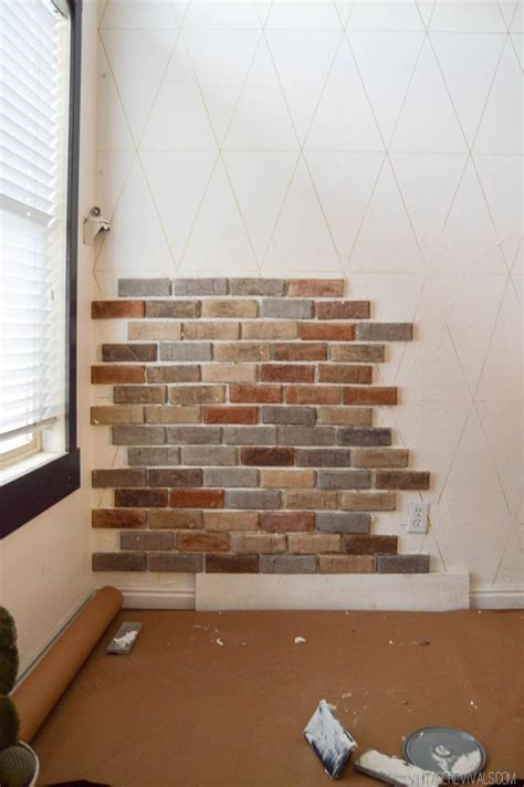 Brick Veneer Interior by Best 25 Brick Veneer Wall Ideas On Repair