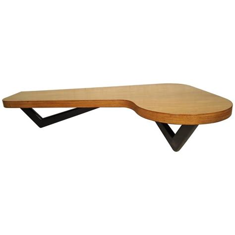 mid century pearsall style kidney coffee table for sale at