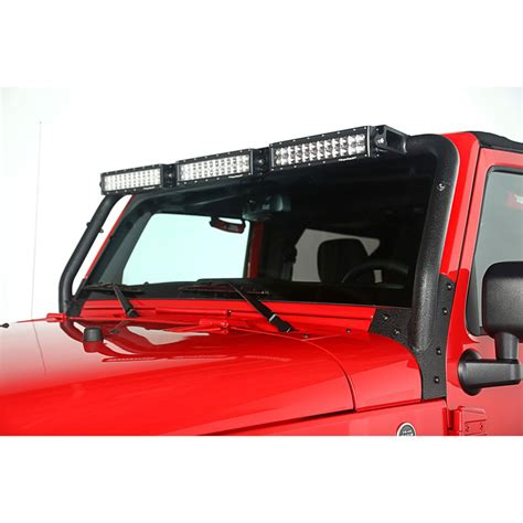 Led Light Bar For Jeeps Rugged Ridge 11232 26 2007 16 Wrangler Windshield Led Light Bar Kit