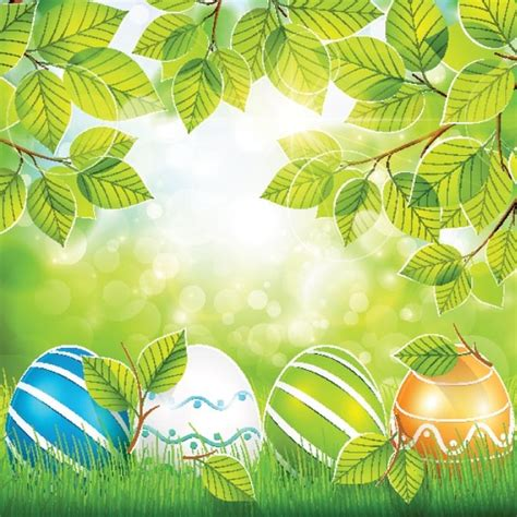 decorated easter eggs free vector decorated easter egg on grass free vector in