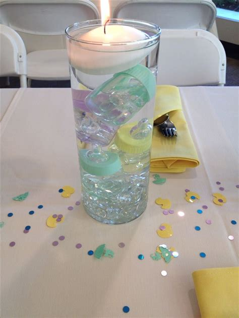 baby bottle centerpieces baby shower best 25 baby shower centerpieces ideas on