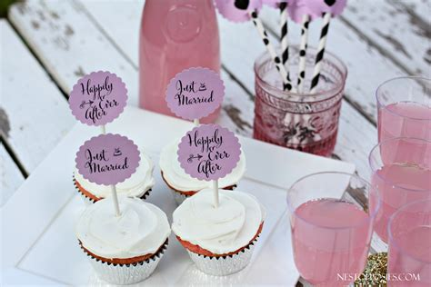 bridal shower cupcake toppers printables wedding or bridal shower cupcake toppers