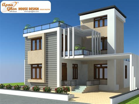 Multi Family Compound Plans by Duplex House Design Apnaghar House Design Page 9