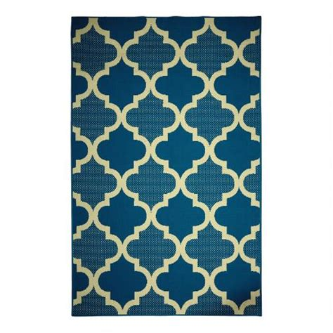 Outdoor Rugs Blue Blue Trellis Indoor Outdoor Rug Tree Shops Andthat