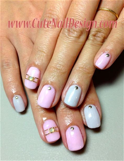 2 color nail simple 2 color nails nail gallery