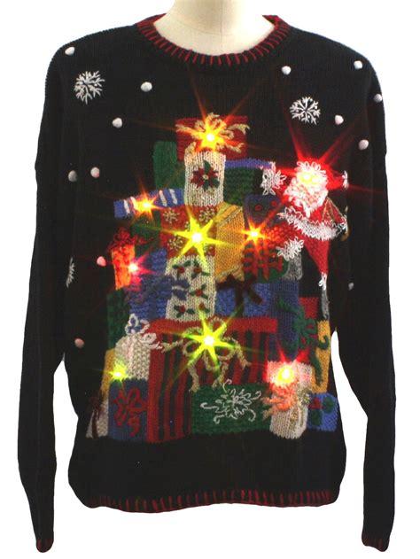 lightup ugly christmas sweater tiara international