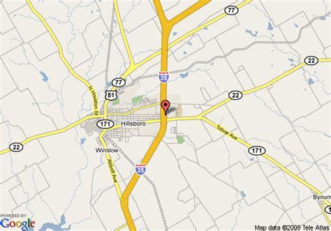 hillsboro texas map map of 8 motel hillsboro tx hillsboro