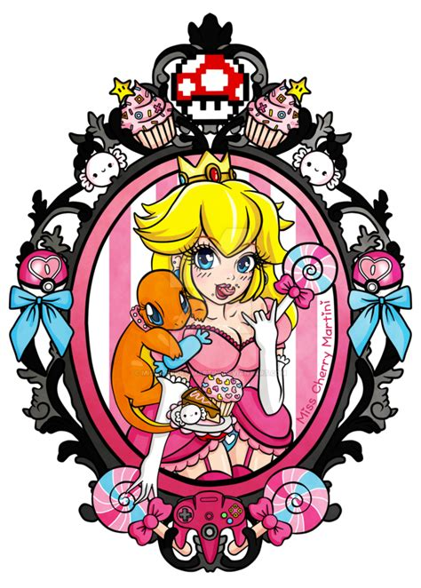 princess peach tattoo designs princess by miss cherry martini on