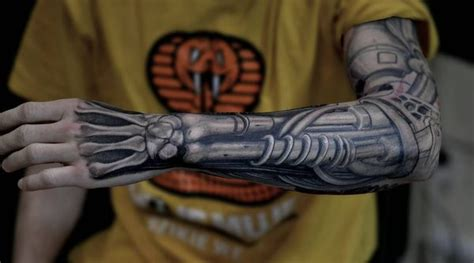 bionic arm sleeve tattoo designs biomechanical tattoos designs best ideas for you