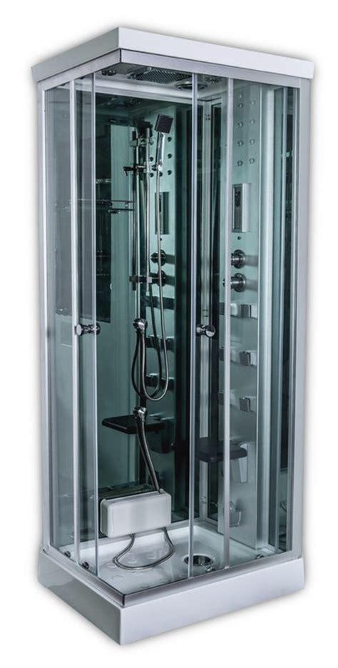 cabina doccia multifunzione 70x90 box doccia idromassaggio con bagno turco cheope 70x90