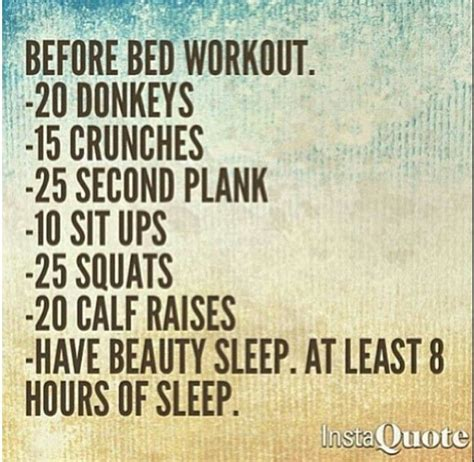 Before Bed Workout Routine Pinterest Crafts
