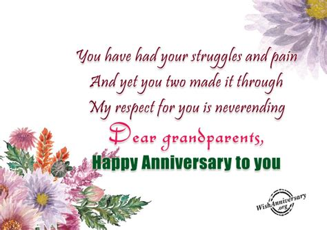 Wedding Anniversary Wishes For Grandparents search results for wedding anniversary messages