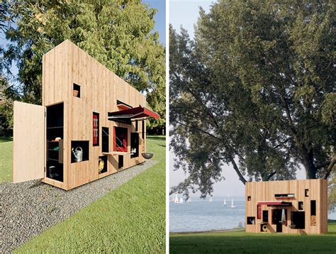 Long Narrow House Plans small portable garden house connects with nature urban