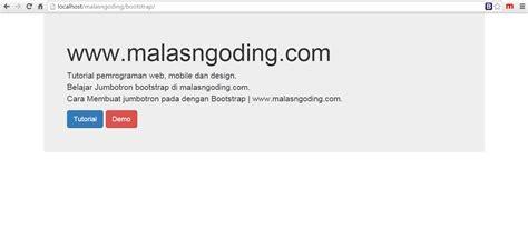 membuat website versi mobile dengan bootstrap bootstrap part 5 membuat jumbotron dengan bootstrap