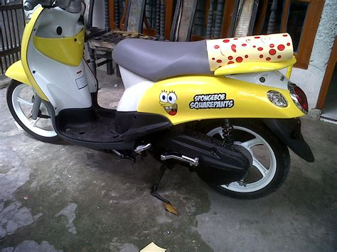 Yamaha Vega Sticker Design by Bintang Sticker Yamaha Mio Fino Spongebobs Design