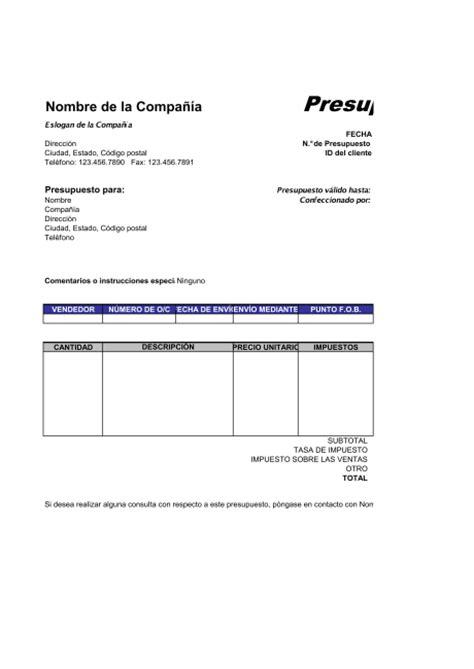 formatos de cotizacion formatos de cotizaciones en blanco formatos de
