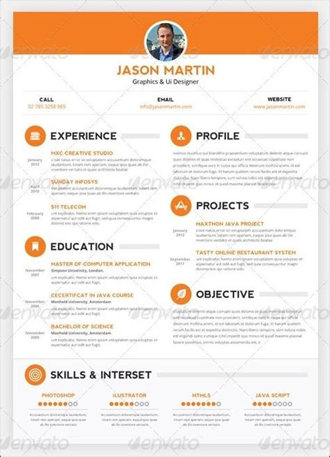 unique resume templates resume curriculum vitae creative resumes