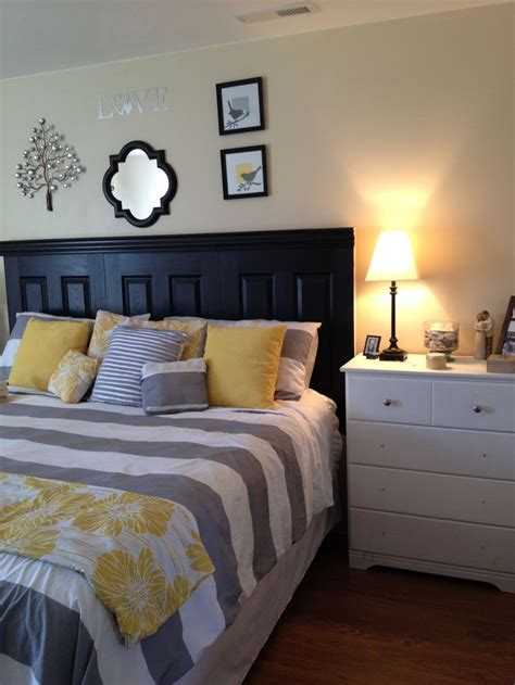yellow and grey master bedroom grey and yellow master bedroom i actually like the stripes in this one for my new