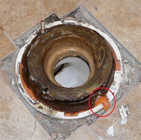 bathroom   How to fix broken toilet flange from over