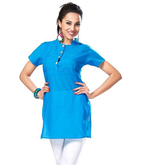 Cherry Tunic Square Terbaru2017 inddus collar blue cotton tunic with designer pleats available at snapdeal for rs 279