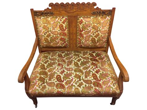 wooden settees antique carved wood settee chairish