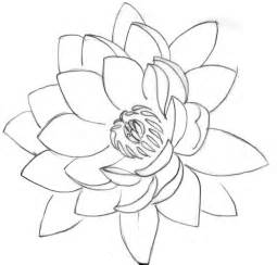 Line Drawing Of Lotus Flower 33 Lotus Stencils Designs