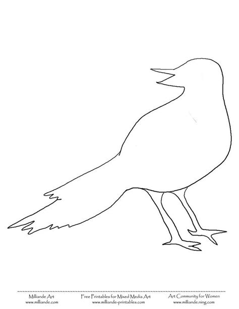 printable bird template bird template coloring home