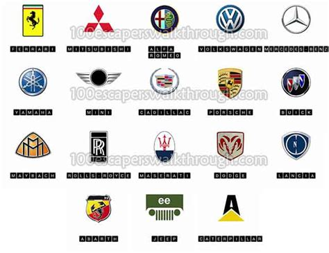 logo quiz cars answers  game answers   escapers walkthrough solution