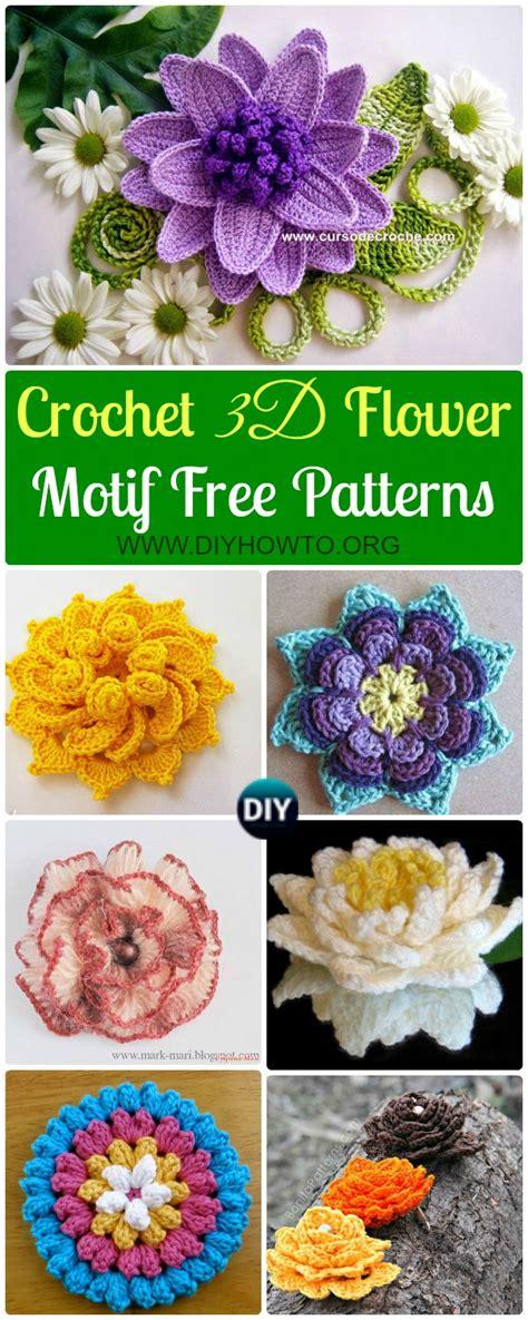 Crochet Motif Patterns Images crochet 3d flower motif free patterns
