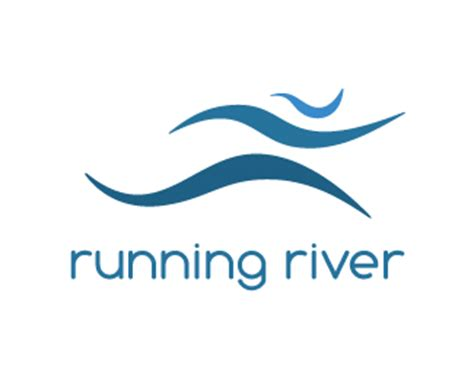 design a running logo running river designed by rockhart brandcrowd