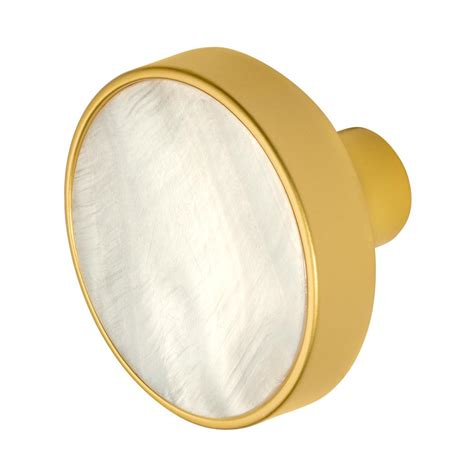 Of Pearl Cabinet Knobs by Wisdom Pearl 1 3 8 In Satin Gold Cabinet Knob