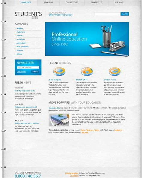 free education website template the best choice for