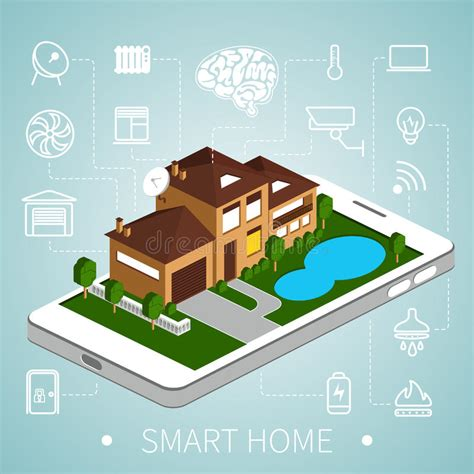isometric smart home stock vector image of digital