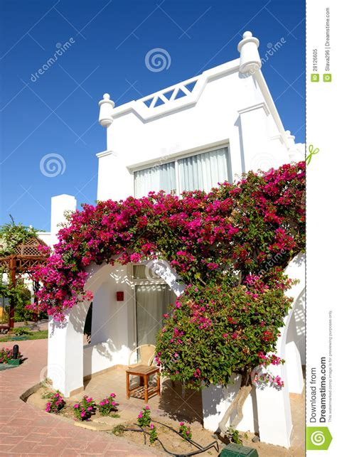 villa decoration villa decoration at the luxury hotel royalty free stock