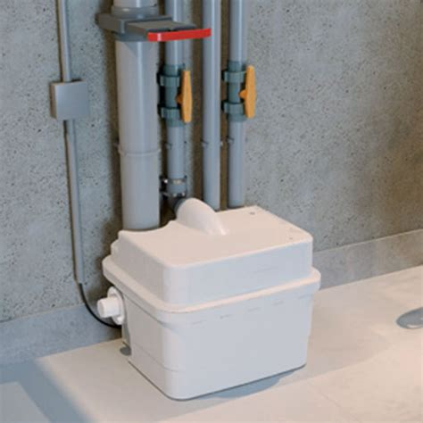 grey water toilet saniflo sanicubic 1 heavy duty macerator for 2 toilets and