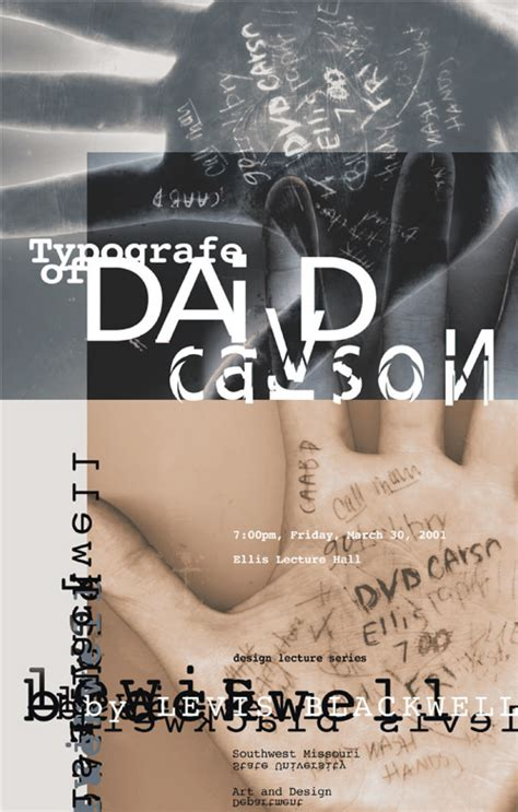 typography magazine artist research david carson a history joanne maguire