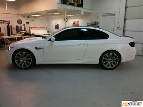 matte white bmw matte white bmw m3 vehicle customization shop vinyl