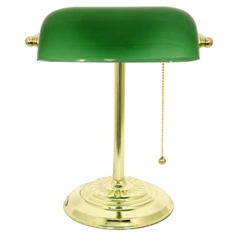metal desk l shade lightaccents metal bankers desk l glass shade brass
