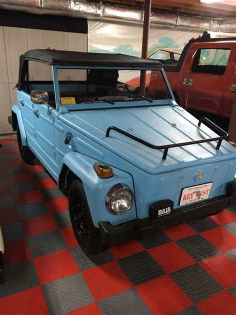 volkswagen thing blue seller of classic cars tag thing